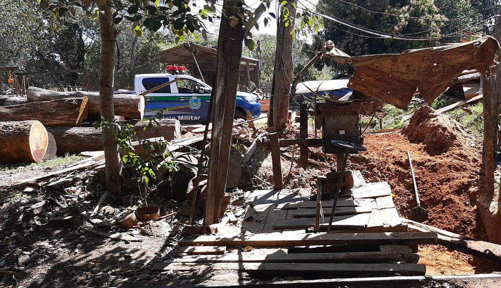 Illegal sawmill closed and 24m3 of wood seized in Nioaque