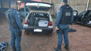 Ponta Porã: Polícia Militar apreende 4 veículos com cigarros e pneus contrabandeados
