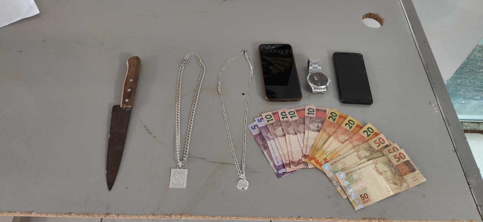 Polícia Militar prende autor de roubo e outro por receptação em Cassilândia